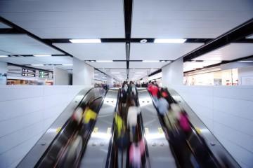 Image of escalators