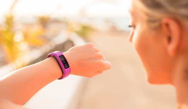 fitness tech device worn by woman