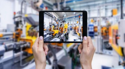 production and assembly plant viewed on tablet device