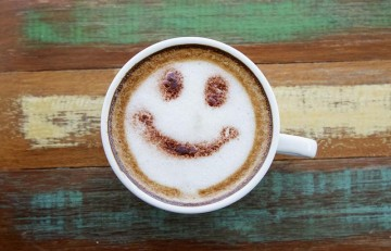 coffee froth smile