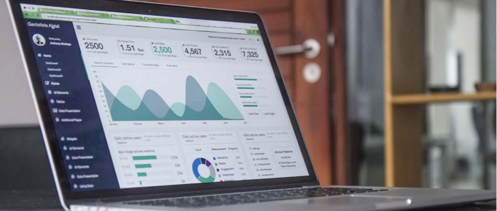 analytics on laptop display