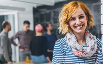 woman attending informal ux workshops