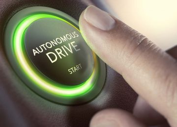 autonomous vehicle start button