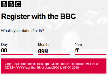 bbc screen grab image showing clear error message