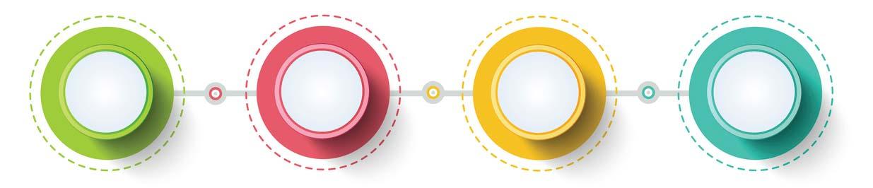 bright circles representing process