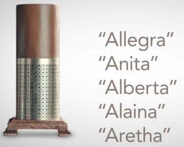 alternative names to alexa next to fictional voice interface device