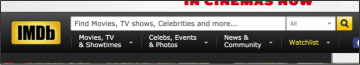 example search functionality from imdb website