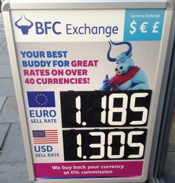 bfc exchange a-board sign