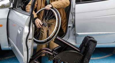 wheelchair user exiting car