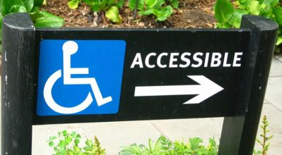accessible ramp sign