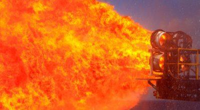 intense explosion