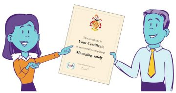 iosh managing safely training course certificate (illustration)