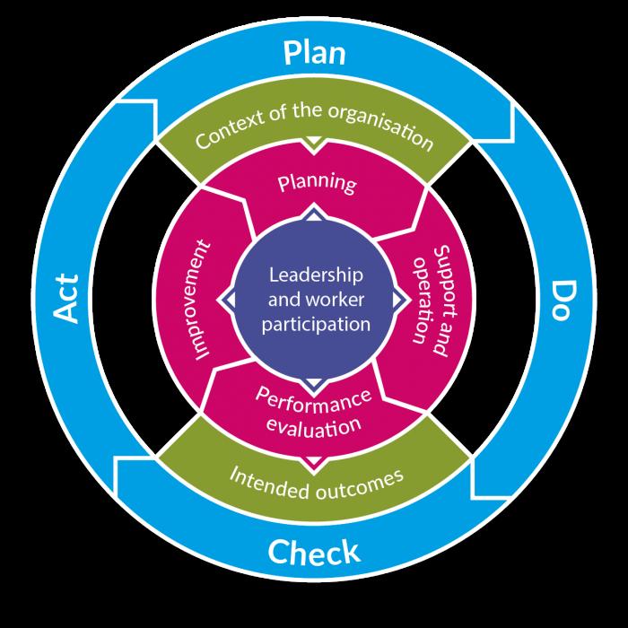 diagram showing plan do act check process