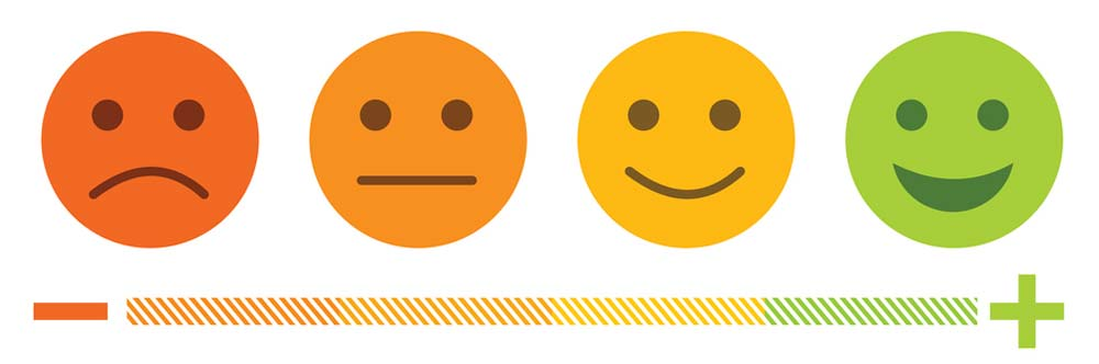 emoticon scale from sad to happy