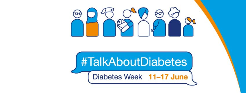 talk about diabetes campaign logo and illustration