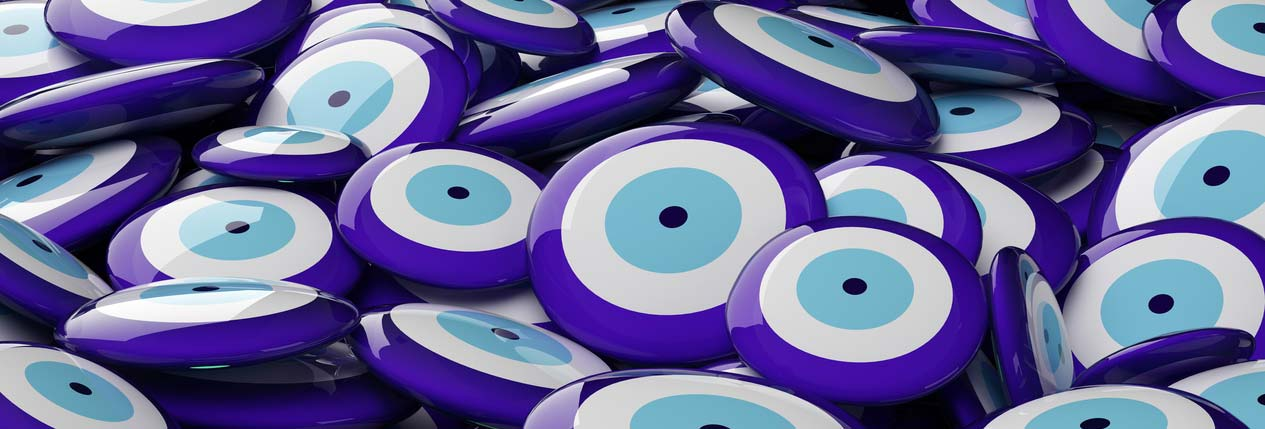 buttons with evil eye symbol