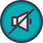 technology mute icon