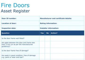 fire door safety asset register form