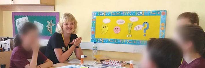 consultant running user research with primary school aged children
