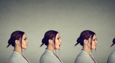 Image of Woman expressing differnt emotions