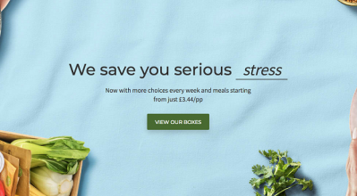 Email from Hello Fresh - We you serious stress, view our boxes.