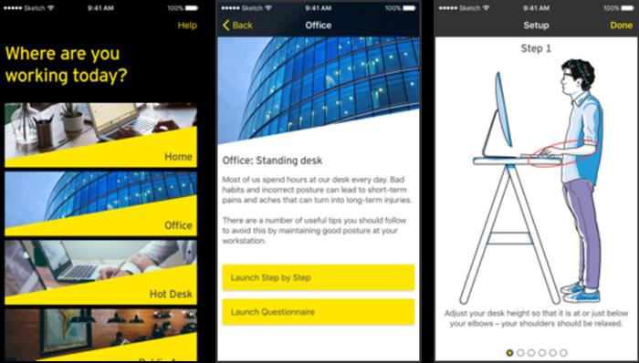 SCL Ergo app; example steps