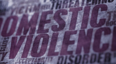 Word collage with the focus on the words Domestic Violence