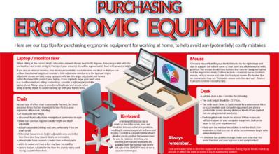 "(alt=""Infographic detailing tips on purchasing ergonomic equipment"")"