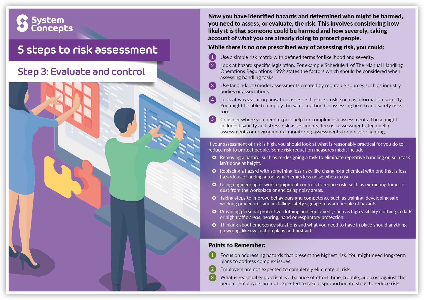 """(alt=""""5 steps to risk assessment. Step 3 - Evaluate and control"""")"""